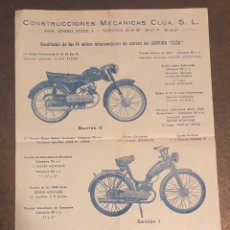 Coches y Motocicletas: PUBLICIDAD; MOTO. FOLLETO PUBLICITARIO DE VELOMOTORES EL GORRIÓN.. Lote 195291015