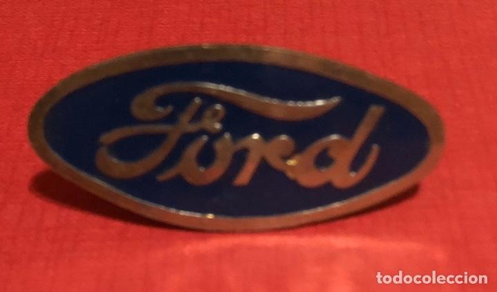 Coches y Motocicletas: Publicidad; coche. Placa esmaltada de coche Ford. - Foto 2 - 195331426