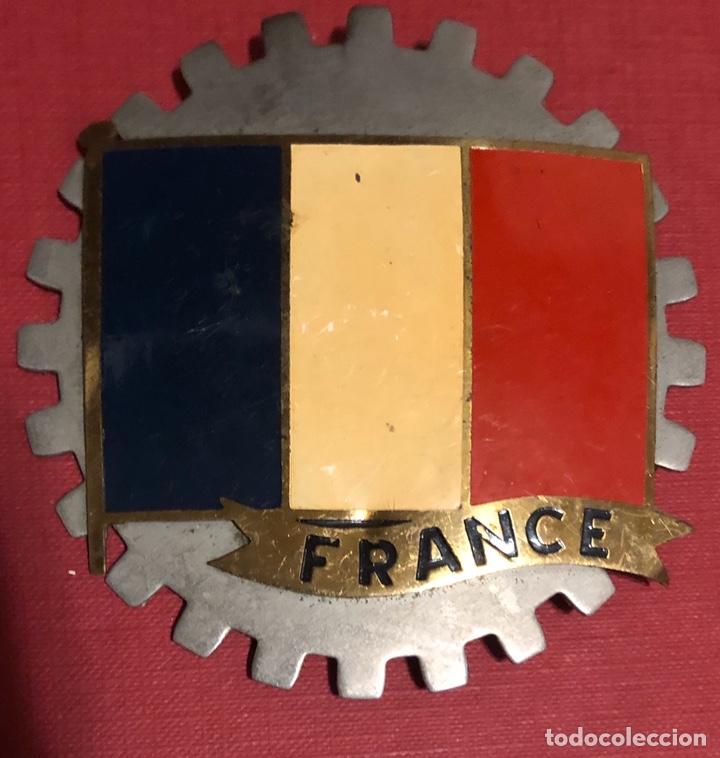 Coches y Motocicletas: Publicidad. Placa esmaltada para coche o moto, de la bandera de Francia. - Foto 2 - 195334135