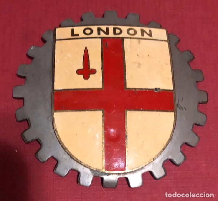 Coches y Motocicletas: Publicidad; placa esmaltada para coche o moto, de la bandera de Londres. - Foto 2 - 195334522