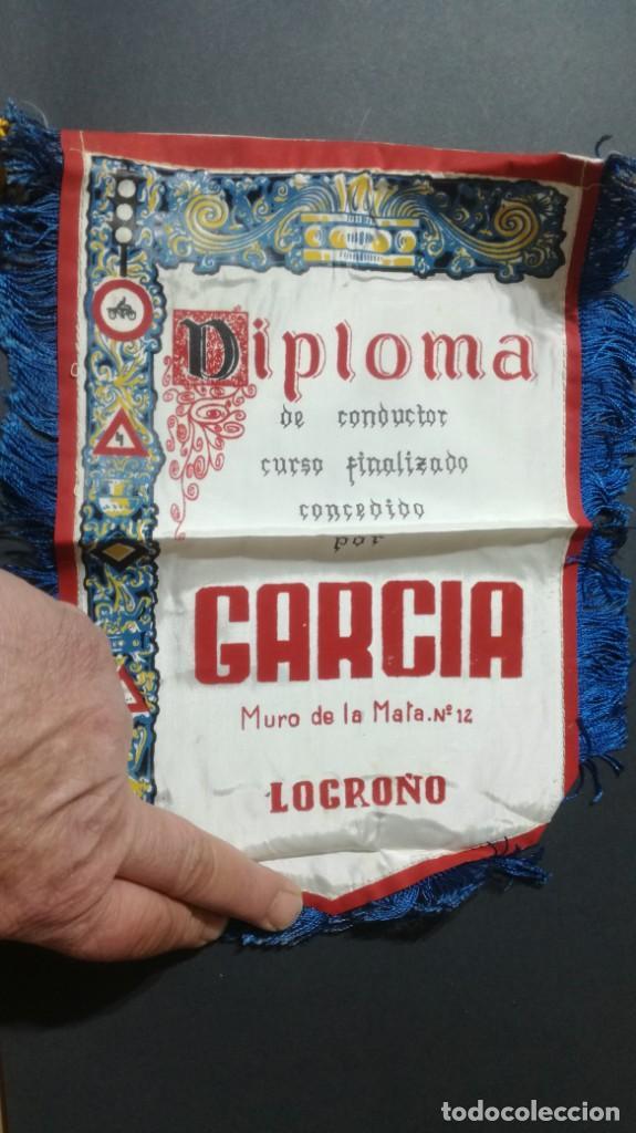 LOGROÑO, DIPLOMA DE CONDUCTOR CURSO FINALIZADO (Coches y Motocicletas Antiguas y Clásicas - Catálogos, Publicidad y Libros de mecánica)