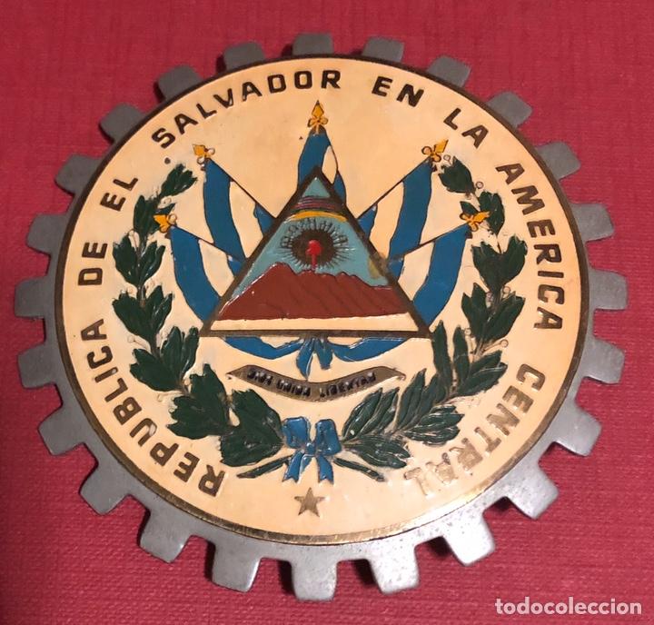 Coches y Motocicletas: Publicidad; placa esmaltada para coche o moto, de la República de El Salvador. - Foto 2 - 195338977