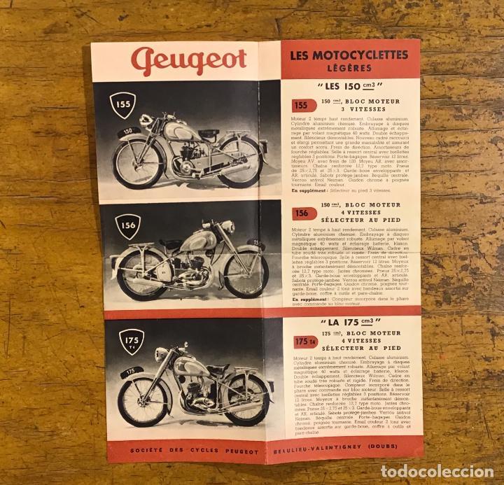 Coches y Motocicletas: PEUGEOT, PUBLICIDAD AÑOS 50 - Foto 2 - 195379836