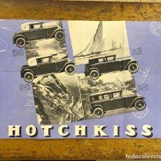 Coches y Motocicletas: HOTCHKISS, PUBLICIDAD AÑOS 20/30. Lote 195405201