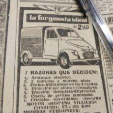 Coches y Motocicletas: FH LA FURGONETA IDEAL, IBEM GRANADA.. Lote 195431355