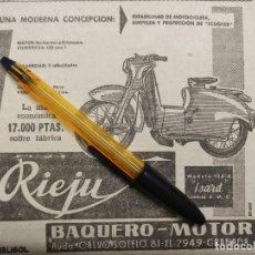 Coches y Motocicletas: RIEJU ISARD MOTOCICLETA O SCOOTER, BAQUERO MOTOR GRANADA.. Lote 195431808