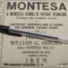 Coches y Motocicletas: MONTESA BRIO 91 PRIMERA EN LACONIA NEW HAMPSHIRE CON WILLIAM G OSBORN.. Lote 195432231