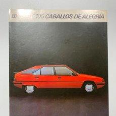 Coches y Motocicletas: CATALOGO FOLLETO PUBLICIDAD ORIGINAL CITROEN BX 19 GT DE 1984. Lote 195531180