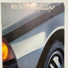 Coches y Motocicletas: CATALOGO FOLLETO PUBLICIDAD ORIGINAL RENAULT FUEGO DE 1982. Lote 195531318