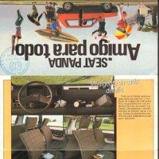 Coches y Motocicletas: SEAT PANDA AMIGO PARA TODO FOLLETO PEQUEÑO PLEGABLE 42X20CM ABIERTO, 1982. Lote 195541527