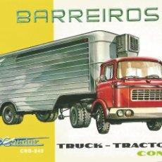 Coches y Motocicletas: BARREIROS TRUCK TRACTOR CONDOR CRB 242 1962 CATÁLOGO 8 PÁGINAS EN INGLÉS. Lote 195542392