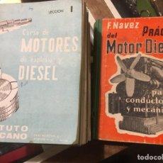 Coches y Motocicletas: CURSO DE MOTORES DE EXPLOSIÓN Y DIESEL 24 TOMOS COMPLETA, 1960 Y PRACTICA MOTOR DIESEL F.NAVEZ. Lote 195546635