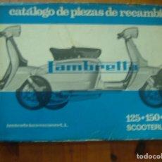 Coches y Motocicletas: CATALOGO PIEZAS RECAMBIO LAMBRETTA 125 - 150- 175 SPARE PARTS CATALOG LAMBRETTA. Lote 195608991