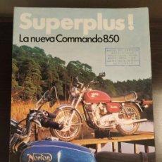 Coches y Motocicletas: NORTON 850 COMMANDO SUPERPLUS CATALOGO. Lote 195646201