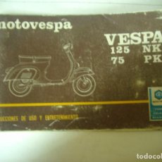 Coches y Motocicletas: MANUAL VESPA 125 NK - 75 PK. Lote 195817602
