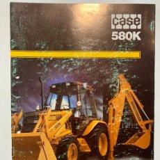 Carros e motociclos: CATALOGO FOLLETO PUBLICIDAD RETROCARGADORA CASE 580K DE 1988. Lote 195993210