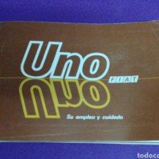 Coches y Motocicletas: FIAT UNO. EMPLEO Y CUIDADO. MANUAL.. Lote 196188693