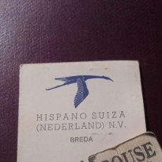 Coches y Motocicletas: ANTIGUO CARNET - TRABAJADOR , HISPANO SUIZA ( NEDERLAND) N.V. BREDA TRABAJADOR DE NACIONALIDAD ESPAÑ. Lote 196198256