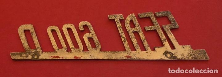 Coches y Motocicletas: Publicidad; coche. Emblema de SEAT 600 D. - Foto 3 - 196208956