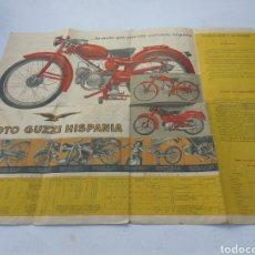 Coches y Motocicletas: POSTER-CATALOGO GUZZI DESPLEGABLE 60X50 CMS VER FOTOS Y DESCRIPCIÓN. Lote 195766622