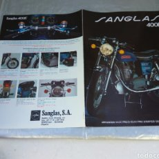Coches y Motocicletas: MOTOCICLETAS SANGLAS CATÁLOGO DESPLEGABLE. Lote 196202273