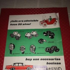 Coches y Motocicletas: BOCINAS MIXO - HOJA PUBLICITARIA - AÑO 1964 - DISTRIBUIDOR EN MURCIA; VDA. DE LUIS MEDINA RAEL. Lote 197136691