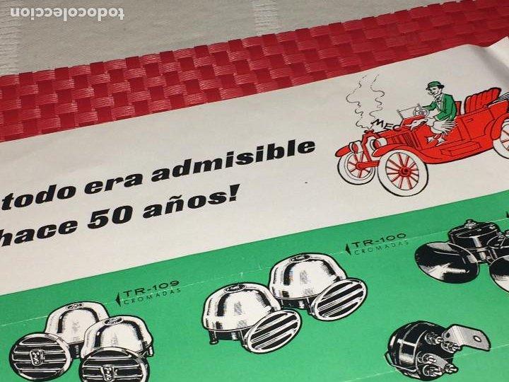 Coches y Motocicletas: BOCINAS MIXO - HOJA PUBLICITARIA - AÑO 1964 - Distribuidor en MURCIA; VDA. DE LUIS MEDINA RAEL - Foto 3 - 197136691