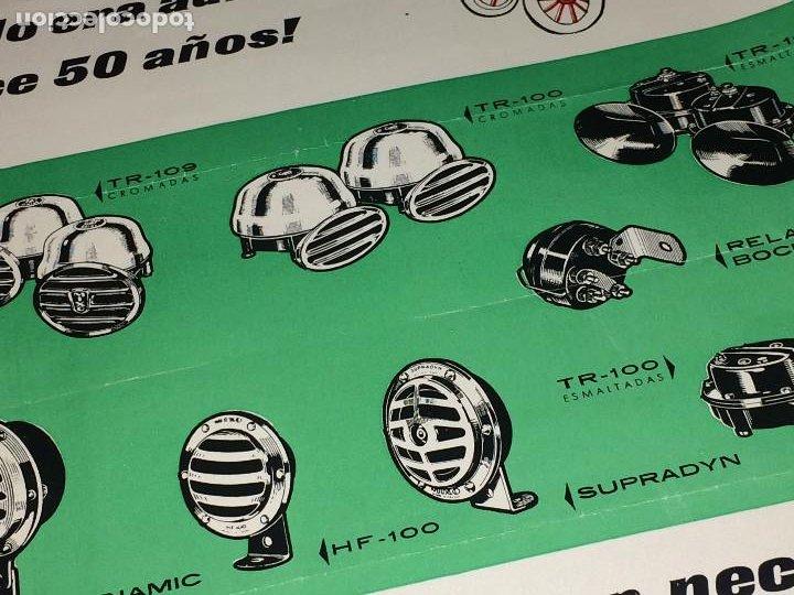 Coches y Motocicletas: BOCINAS MIXO - HOJA PUBLICITARIA - AÑO 1964 - Distribuidor en MURCIA; VDA. DE LUIS MEDINA RAEL - Foto 4 - 197136691