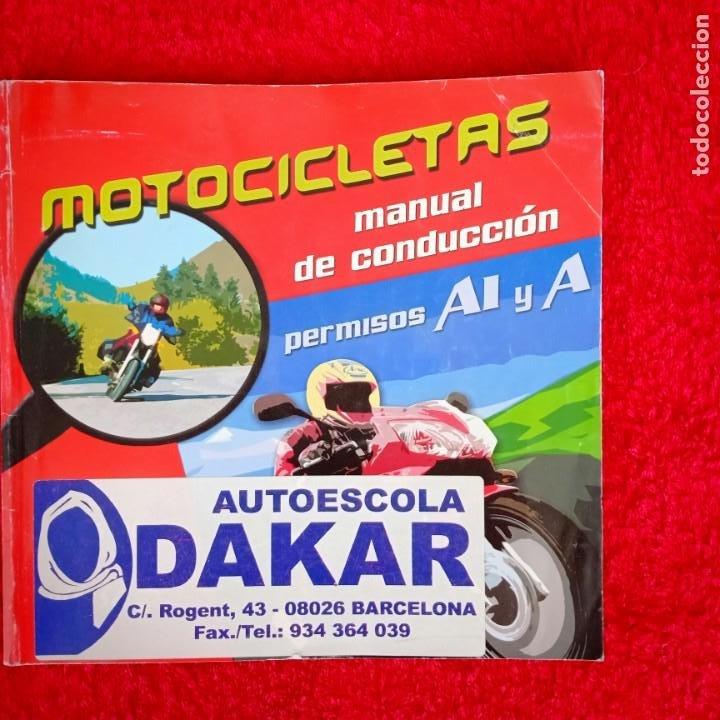 MOTOCICLETAS MANUAL DE CONDUCCIÓN (Coches y Motocicletas Antiguas y Clásicas - Catálogos, Publicidad y Libros de mecánica)