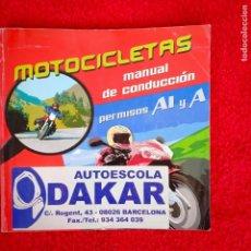 Coches y Motocicletas: MOTOCICLETAS MANUAL DE CONDUCCIÓN. Lote 197647310