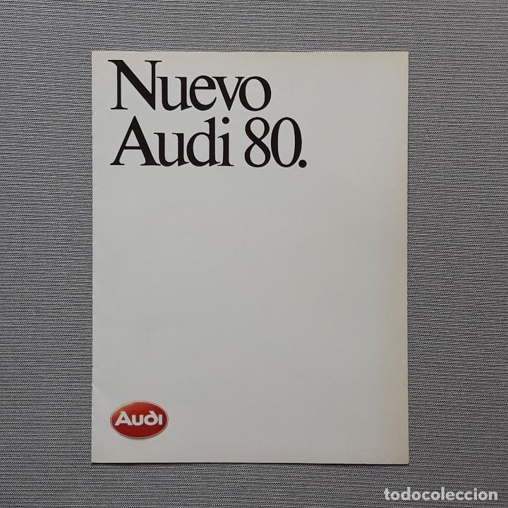 NUEVO AUDI 80. CUADRÍPTICO. (Coches y Motocicletas Antiguas y Clásicas - Catálogos, Publicidad y Libros de mecánica)