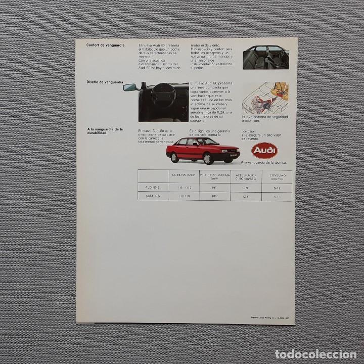 Coches y Motocicletas: NUEVO AUDI 80. CUADRÍPTICO. - Foto 2 - 197775146