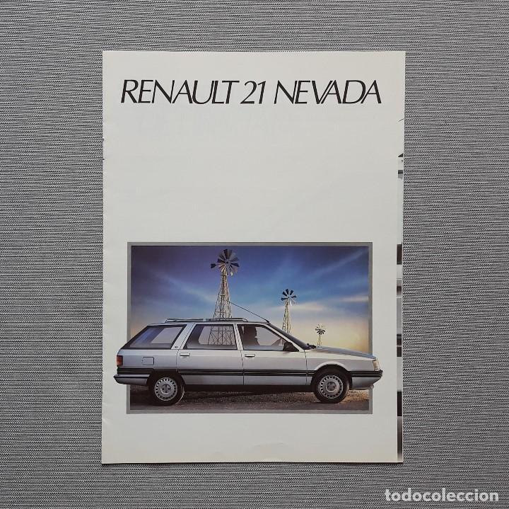 RENAULT 21 NEVADA CUADRÍPTICO (Coches y Motocicletas Antiguas y Clásicas - Catálogos, Publicidad y Libros de mecánica)