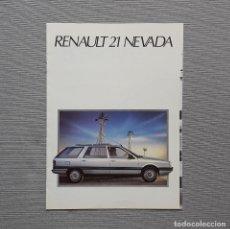 Coches y Motocicletas: RENAULT 21 NEVADA CUADRÍPTICO. Lote 197775782