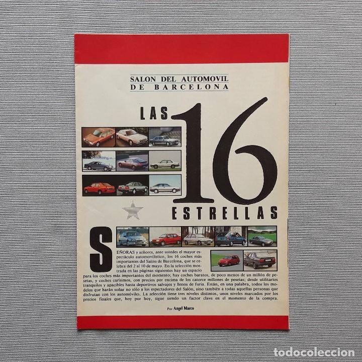 SALÓN DEL AUTOMÓVIL DE BARCELONA. LAS 16 ESTRELLAS. (Coches y Motocicletas Antiguas y Clásicas - Catálogos, Publicidad y Libros de mecánica)