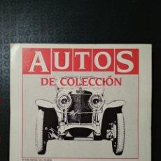 Coches y Motocicletas: AUTOS DE COLECCIÓN. PRIMERA SERIE. 60 FICHAS. PLANETA DE AGOSTINI. BARCELONA. 1992. Lote 197829170