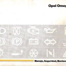 Coches y Motocicletas: MANUAL OPEL OMEGA 04/1992.. Lote 198162735