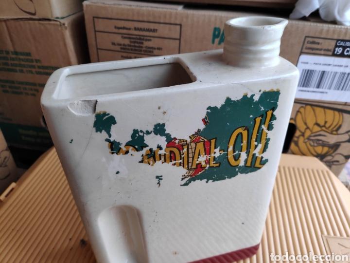 Coches y Motocicletas: Lata ceramica aceite coche mondial oil 25 cm aprox - Foto 2 - 198496786