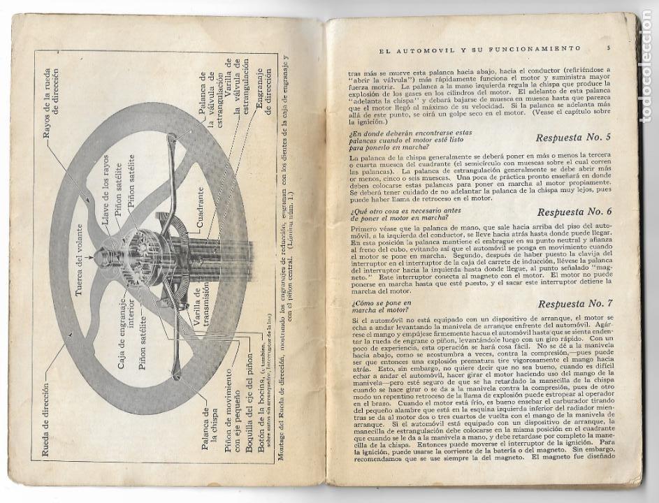 Coches y Motocicletas: MANUAL FORD - PARA USO DE LOS PROPIETARIOS DE LOS AUTOMÓVILES Y LOS AUTOCAMIONES - 1919 - Foto 3 - 198764107