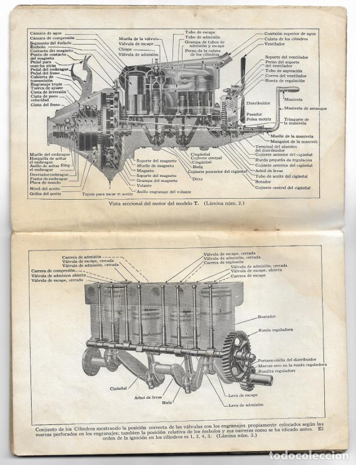 Coches y Motocicletas: MANUAL FORD - PARA USO DE LOS PROPIETARIOS DE LOS AUTOMÓVILES Y LOS AUTOCAMIONES - 1919 - Foto 4 - 198764107