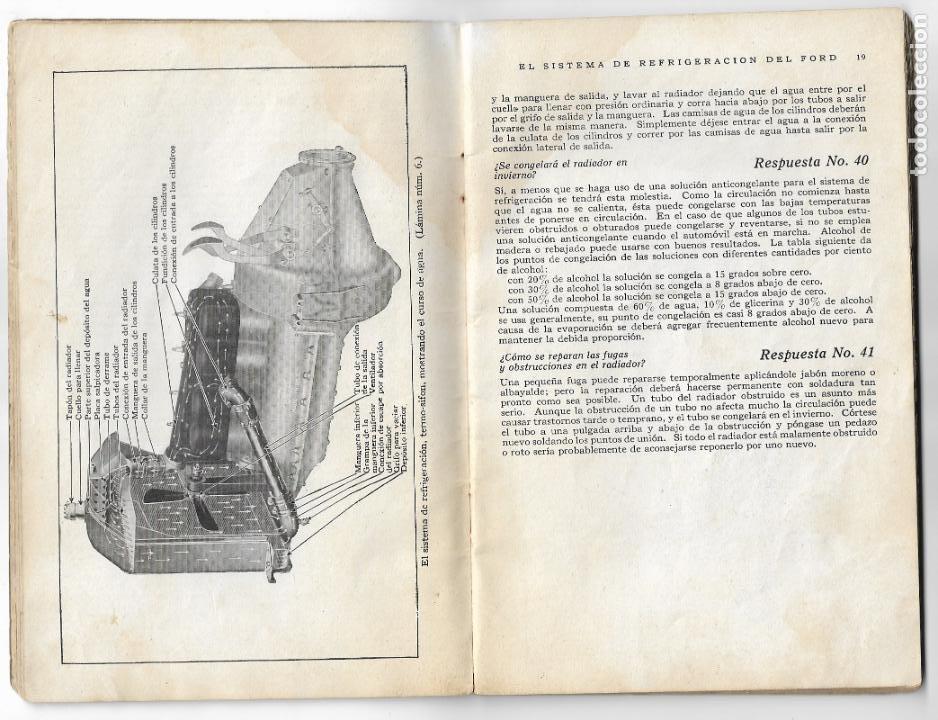 Coches y Motocicletas: MANUAL FORD - PARA USO DE LOS PROPIETARIOS DE LOS AUTOMÓVILES Y LOS AUTOCAMIONES - 1919 - Foto 5 - 198764107