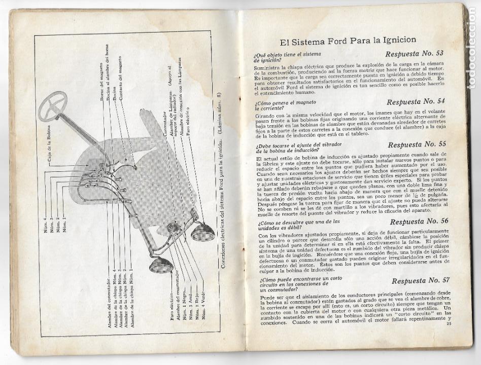Coches y Motocicletas: MANUAL FORD - PARA USO DE LOS PROPIETARIOS DE LOS AUTOMÓVILES Y LOS AUTOCAMIONES - 1919 - Foto 6 - 198764107