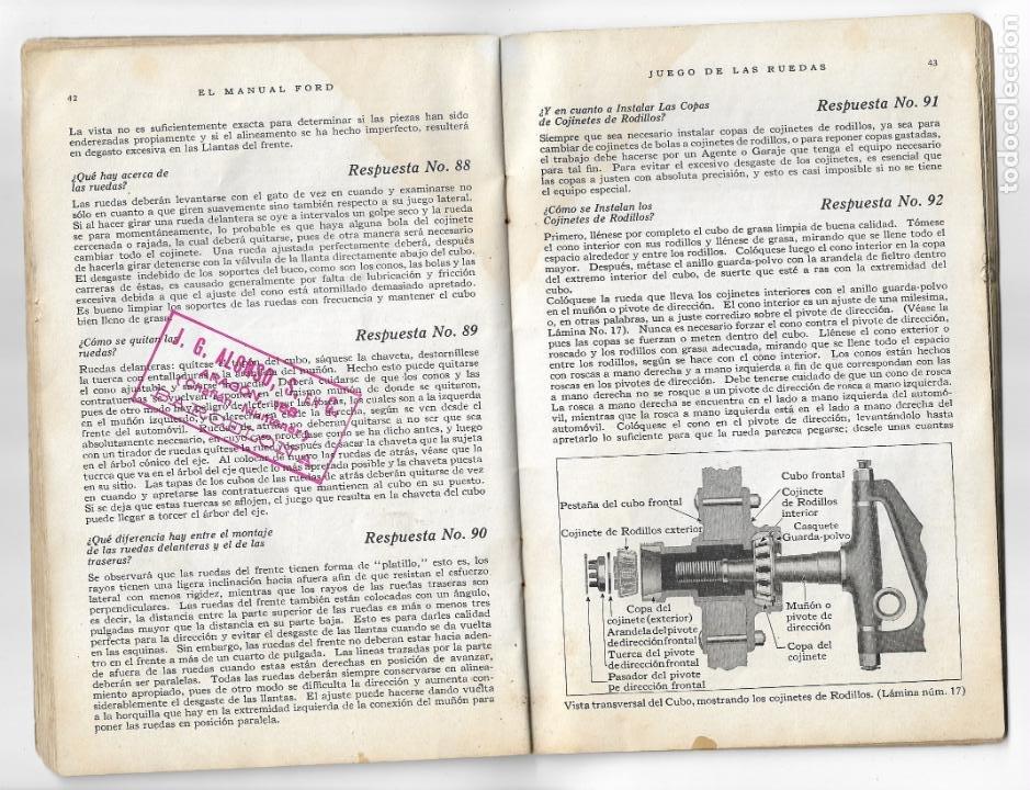 Coches y Motocicletas: MANUAL FORD - PARA USO DE LOS PROPIETARIOS DE LOS AUTOMÓVILES Y LOS AUTOCAMIONES - 1919 - Foto 8 - 198764107