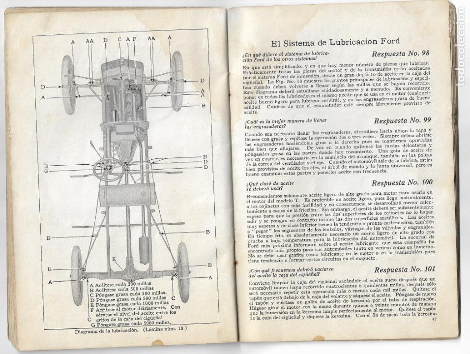 Coches y Motocicletas: MANUAL FORD - PARA USO DE LOS PROPIETARIOS DE LOS AUTOMÓVILES Y LOS AUTOCAMIONES - 1919 - Foto 9 - 198764107