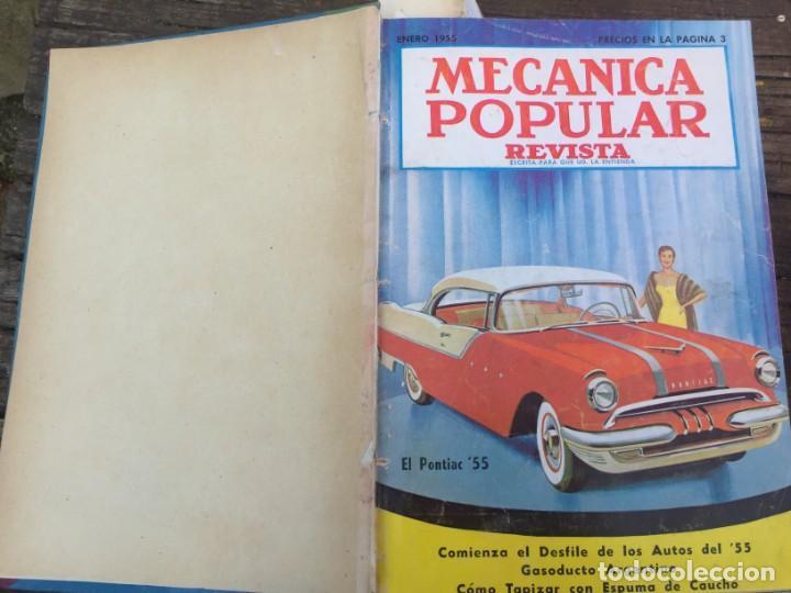 MECÁNICA POPULAR 1955( ENERO-JUNIO) (Coches y Motocicletas Antiguas y Clásicas - Catálogos, Publicidad y Libros de mecánica)