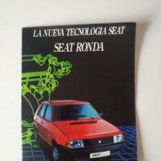 Coches y Motocicletas: CATALOGO SEAT RONDA . Lote 198930728