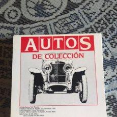 Coches y Motocicletas: FICHAS AUTOS DE COLECCIÓN. PLANETA AGOSTINI. 60 FICHAS DE COCHES.. Lote 199527707