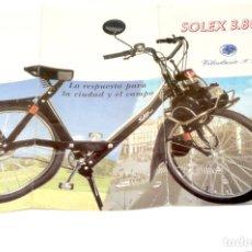 Coches y Motocicletas: TRIPTICO SOLEX 3.800 MOTO(VELOCLASICO, SL) HIBRIDO DE CICLOMOTOR Y BICICLETA. Lote 199637427