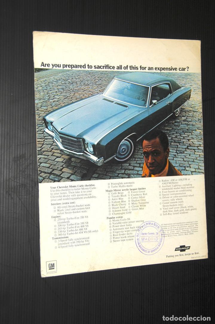 Coches y Motocicletas: CATALOGO COCHE CHEVROLET - AÑO 1970 (EN INGLÉS) - Foto 2 - 199854081