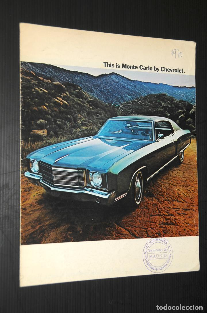 CATALOGO COCHE CHEVROLET - AÑO 1970 (EN INGLÉS) (Coches y Motocicletas Antiguas y Clásicas - Catálogos, Publicidad y Libros de mecánica)